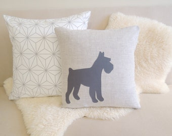 Schnauzer Pillow Cover - Floppy or Cropped Ears