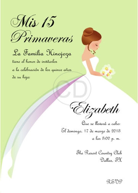 DIY Princess Sweet 16/ Quinceanera Invitation by cecydesigns