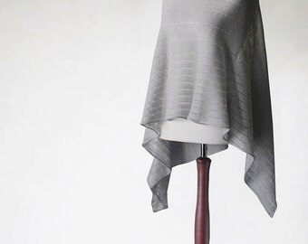LINEN PONCHO, wrap sweater, wrap poncho, linen sweater, knit poncho, linen cape, women poncho, women sweater, natural poncho,linen scarf