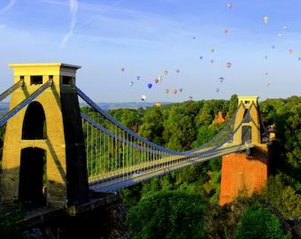 Clifton Suspension Bridge, Hot Air Balloon, Balloon Fiesta, Bristol, England, UK, Fine Art, Photograph, Photography, Alison Zak-Collins