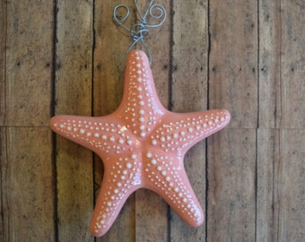 Coral Pink Hanging Starfish