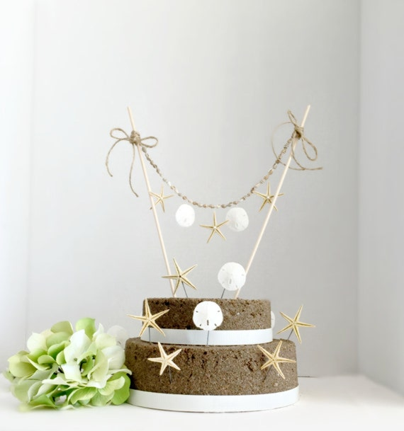 sandcastle wedding cake topper wedding cake topper and 10 picks starfish and sand 19667