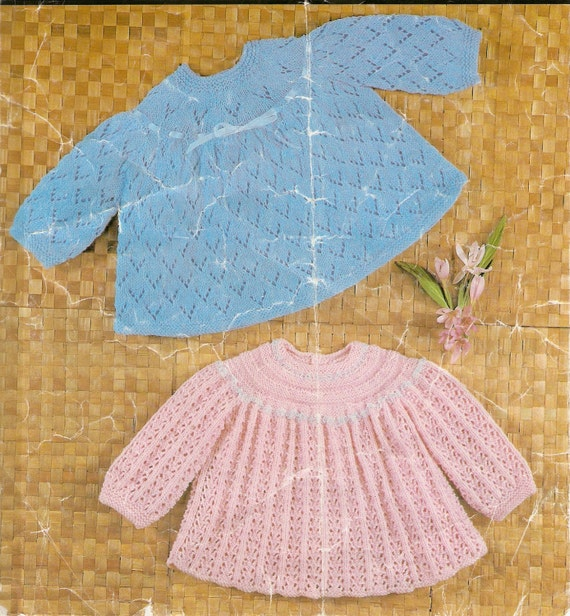 2 Ply Baby Knitting Patterns : 2 Vintage knitting patterns vintage angel top knitting
