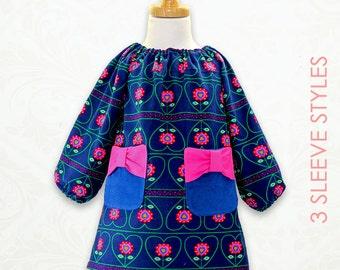 Girls sewing pattern pdf, girls dress pattern, childrens sewing pattern, peasant dress pattern, Baby sewing pattern, girls clothing, POPPY