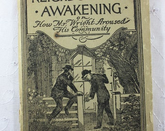 Vintage Religious Paperback: A Neighborhood Awakening or How Mr. Wright Aroused His Community by Charles Orr