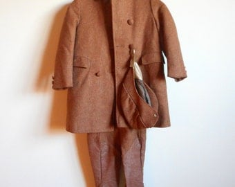 Vintage 60's Boy's Riding Outfit // Wool 3-Piece (size 7)