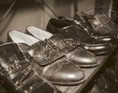 Old Souls - Original Fine Art Photograph (Vintage, shoes, masculine, retro, men's decor)