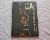 "Vintage 70's Sports Paperback, ""Big A: The Story of Lew Alcindor"" by Joel Cohen, 1971."