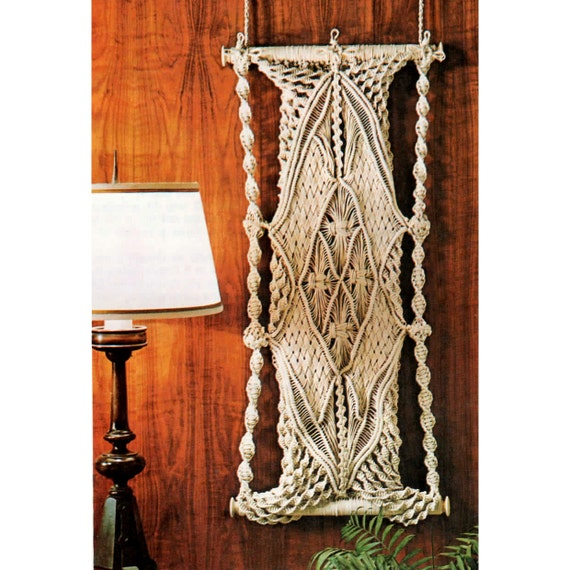free macrame wall hanging patterns and instructions