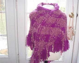 Hand-woven Wool Boucle Shawl
