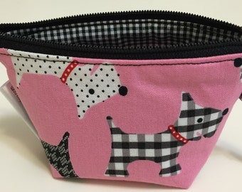 Mini Zippered Pouch/Coin Pouch