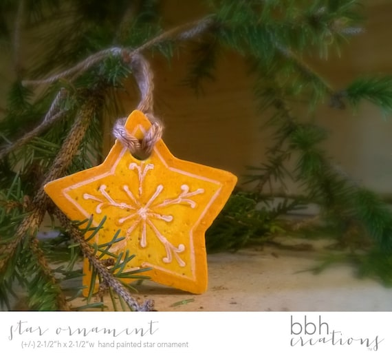 Items similar to colorful yellow star christmas ornament