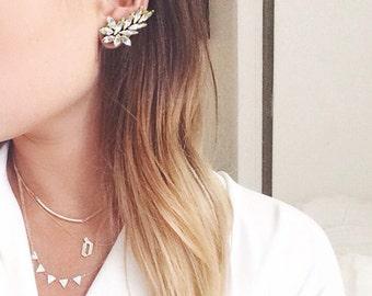 Swarovski Earrings - Ear cuff Style