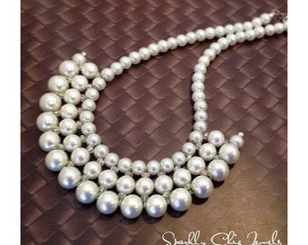 Pearl Bib Statement Necklace