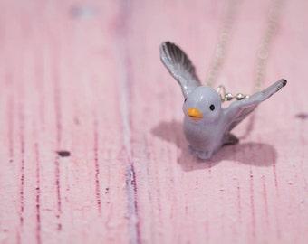 Bluebird Necklace -  Bluebird Pendant Necklace -  Animal Necklace - Blue Bird- Bluebird Jewellery - Bird Necklace - Bluebird Of Happiness