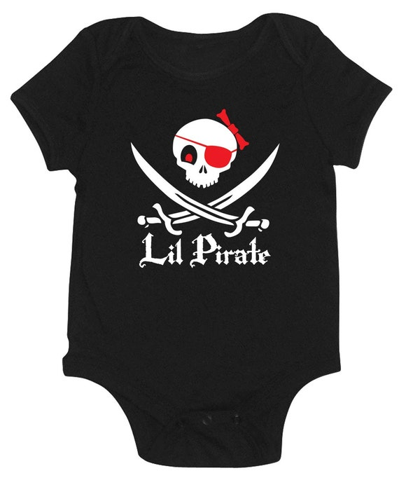 Lil Pirate Baby Girl Onesie