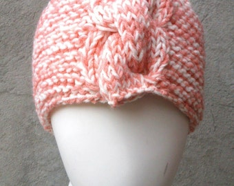 KNITTING PATTERN Hat with cable