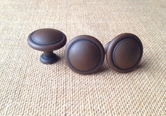 Primitive Rust Style Knob Drawer Pulls Antique Cabinet