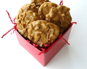 New Orleans Original Pecan Pralines in Red Gift Box - 1 Half Dozen