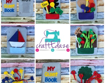 Educational Quiet Book, Busy Bag - Build Your Own