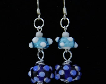Bumpy Bead Dangle Earrings (E0041)
