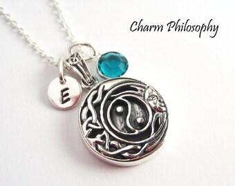 Celtic Yin Yang Necklace - 925 Sterling Silver Jewelry - Celtic Knot Jewelry - Chinese Yin Yang