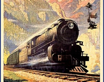 Montana North Coast Limited Railway Travel Poster Print - 1930
