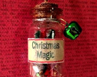Christmas Magic Bottle Necklace - Bottle Jewelry, Blacklight/UV Reactive Magic in Every Bottle!