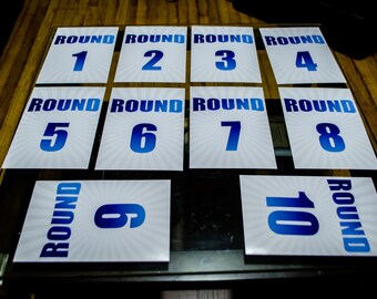 Boxing Table Numbers 1-10 Print 8x12