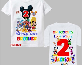 Mickey Mouse Clubhouse Birthday Brother Shirt - Mickey Mouse Clubhouse Matching Sibling Shirt