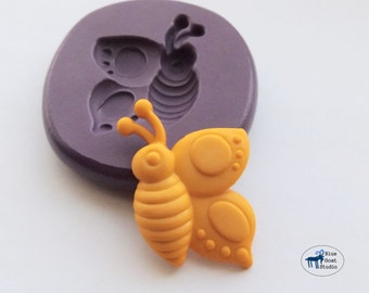 Flying Butterfly Mold - Silicone Mold - Polymer Clay Resin Fondant