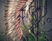 Medium Indian  Brown  Feather Headdress   ( 36 inch long ).