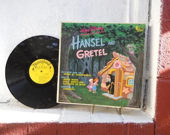 VINTAGE Walt Disney Hansel and Gretel Record Album. Vinyl LP 33-1/3. Classic Story.