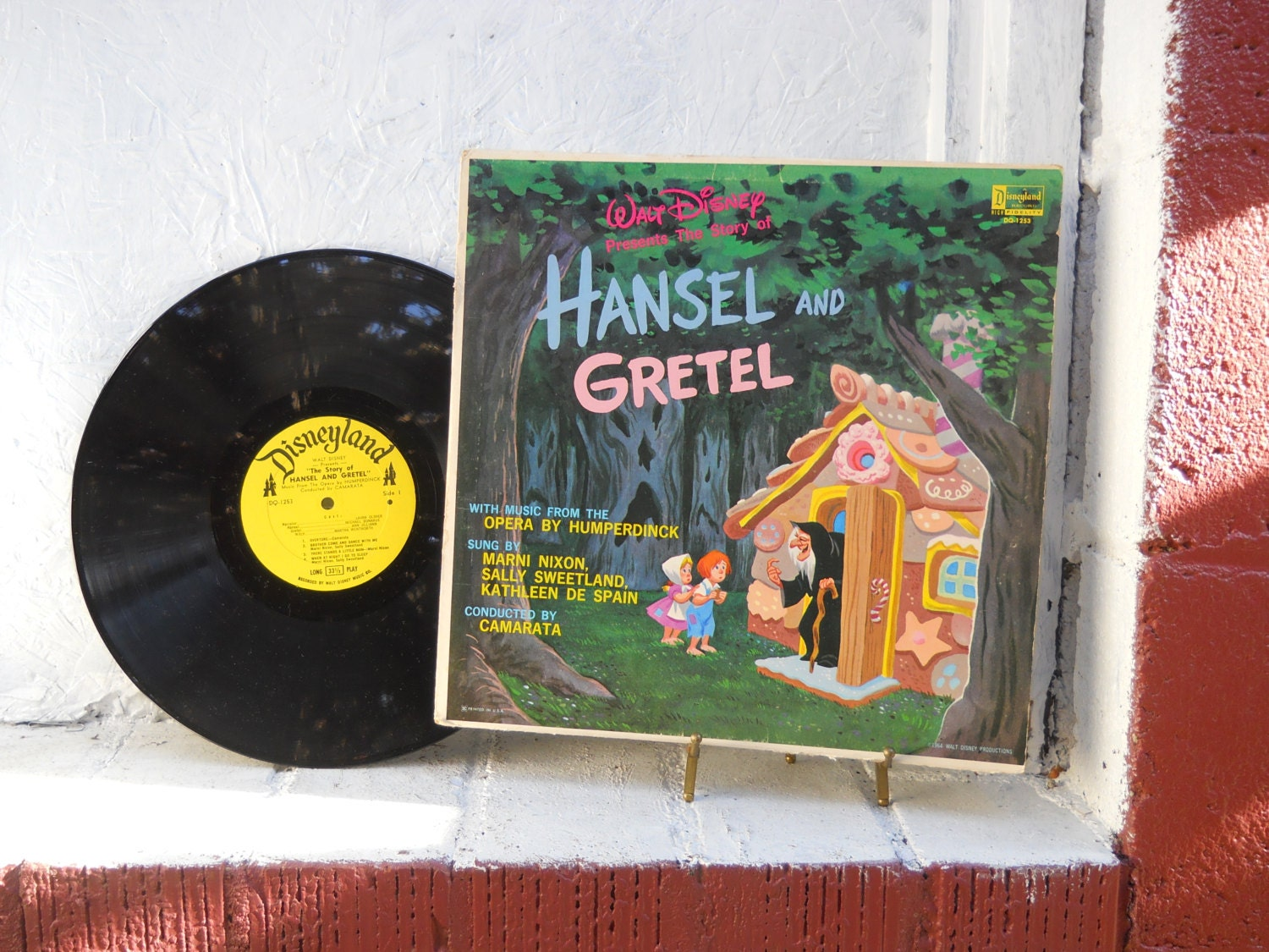 Vintage Walt Disney Hansel And Gretel Record Album Vinyl Lp