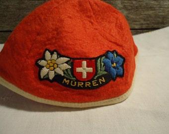 vintage hat children's cap beanie hat from Switzerland