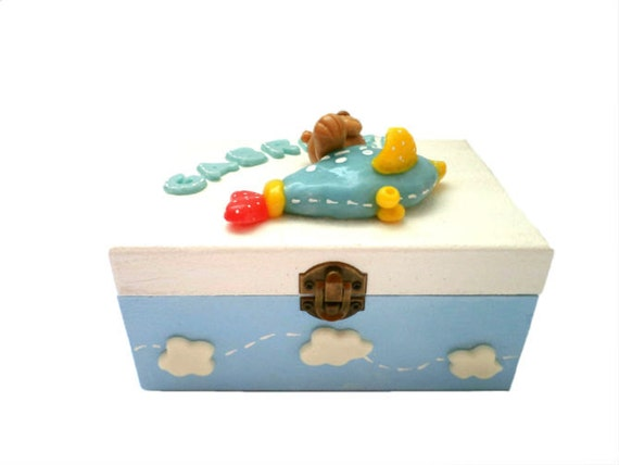 Decorative Baby Gift Box : Personalized baby s treasury keepsake gift box by