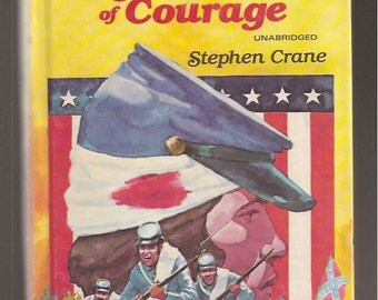1970s Old Childrens Books The Red Badge of Courage Stephen Crane Golden Illustrated Classic Vintage Kids Book 12226