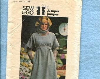 1970's Butterick 4568 Super Comfy Square Neckline Jumper Just Sew & Go  Size Medium 12/14