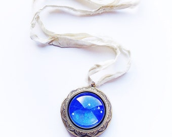 Aries Star Constellation Locket Necklace