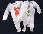 """Organic Cotton Baby Clothes """"Fox"""" and """"Frog"""""""