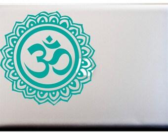 OM Mandala Design Laptop Vinyl Decal Car Decal