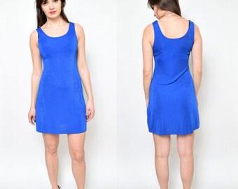 Vintage 90's Royal Blue Mini Dress