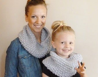 Knitting PATTERN Baby Cabled Button Neckwarmer (Toddler, Child, Adult), Knit ...