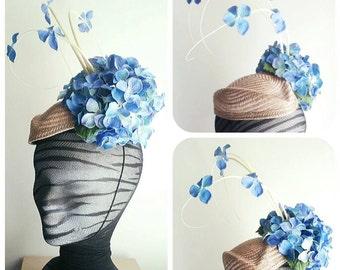 Tocado Hortensia Blue Vanela