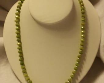 """PERIDOT 24"""" necklace with Circle Toggle """"PERFECTLY PERIDOT"""""""