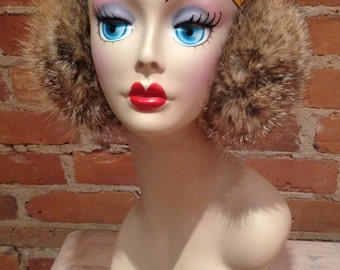 Vibrant Coyote Fur Earmuffs