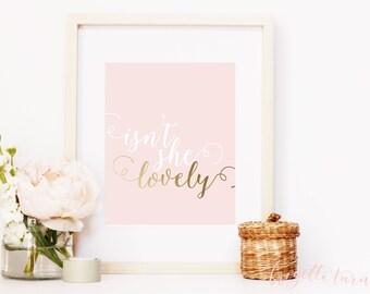 Wall Art Print | Girls | Room | Nursery | Isn't she lovely