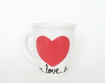 Love Mug, Valentine's Day Mug, Coffee Mug, Coffee Cup, Valentine's Day, Valentine's Day Cup, Heart, Heart Mug, Heart Cup, Heart Coffee Mug