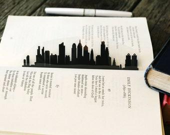 Philadelphia, Pennsylvania - Hand-cut Silhouette Bookmark, Philadelphia Skyline, Papercut City Gift, Travel Bookmark