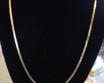 "Vintage 19"" Articulated 14K Gold Chain Necklace"